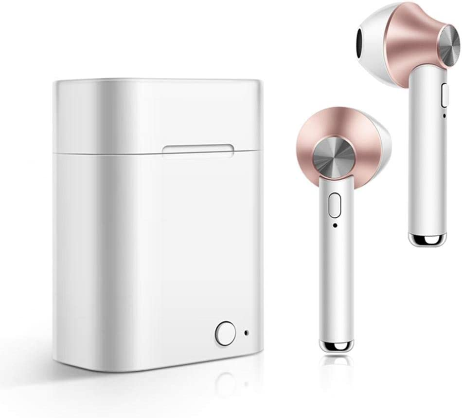 Almost Bluetooth Wireless Music Earphones Sports Headset Earbuds with Charger Box Headphones for Men Women