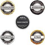 Rudy's Shower Bomb Bundle, 1x each: Lemongrass/Woodsman/ Palo Santo/Eucalyptus / Citrus, 1 oz, 5 Count