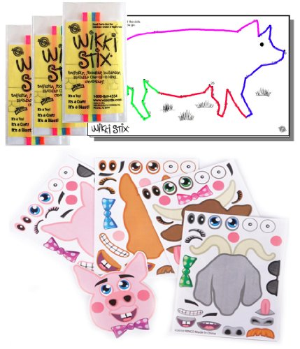 Farm Animal Stickers & Wikki Stix Party