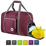 20' Foldable Duffle Bag 40L for Travel Gym Sports Lightweight Luggage Duffel By WANDF