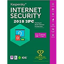 KASPERSKY INTERNET SECURITY 2018 1AÑO 3PC LICENCIA ELECTRONICA