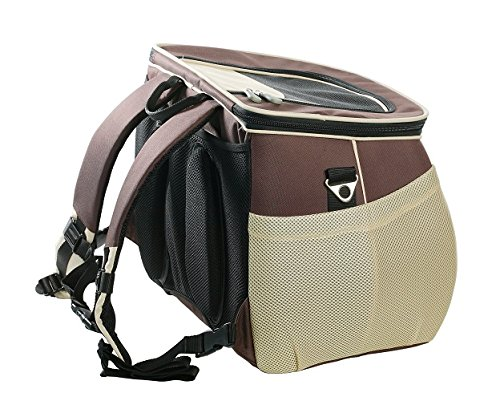 One for Pets The EVA Pet Carrier Backpack, Small, Brown