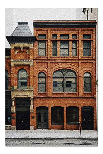 Lansing, Michigan - Brick Building - Photography A-96751 96751 (20x30 Premium 1000 Piece Jigsaw Puzzle, Made in USA!)