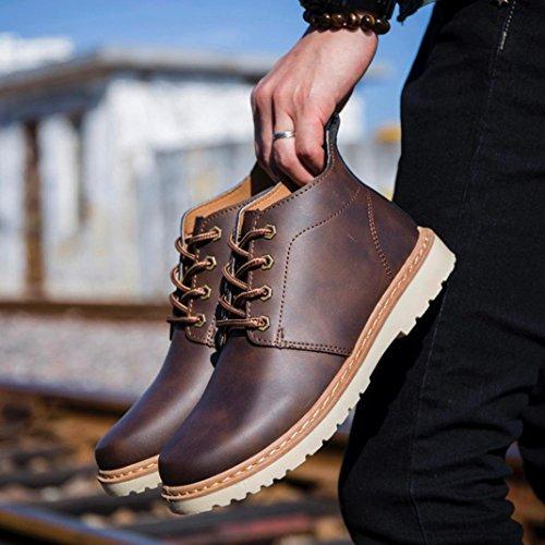 Coloré Baskets Basses Mixte Adulte Baskets mode homme (TM) Chaussures décontractées de style britannique rétro pour hommes brown 5vMbxAJ