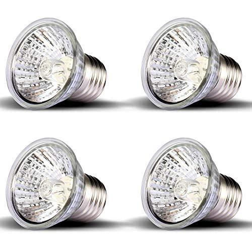 (OMAYKEY 4 Pack 50W UVA + UVB Full Spectrum Sun Lamp Sunbathe Heat Lamp/Bulb/Light for Lizard Reptiles and Amphibians)