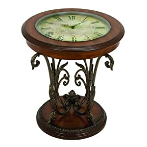 Casa cortes designer round clock coffee end for Clock coffee table round