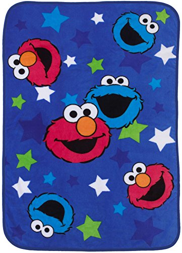 Sesame Street Toddler Blanket - Elmo & Cookie Monster (Cookie Toddler)