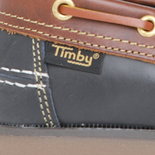 Navy Deck Boat Leather Navy Shoes Unisex Blue Or Timby Shoes Brown 1X5Swt