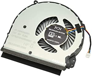 Artidux Replacement CPU Cooling Fan 4 Pins 4 Wires 0.5A for HP Home 17-X000 17-X 17-BS Series Compatible Part Number: 856682-001 856681-001 926724-001