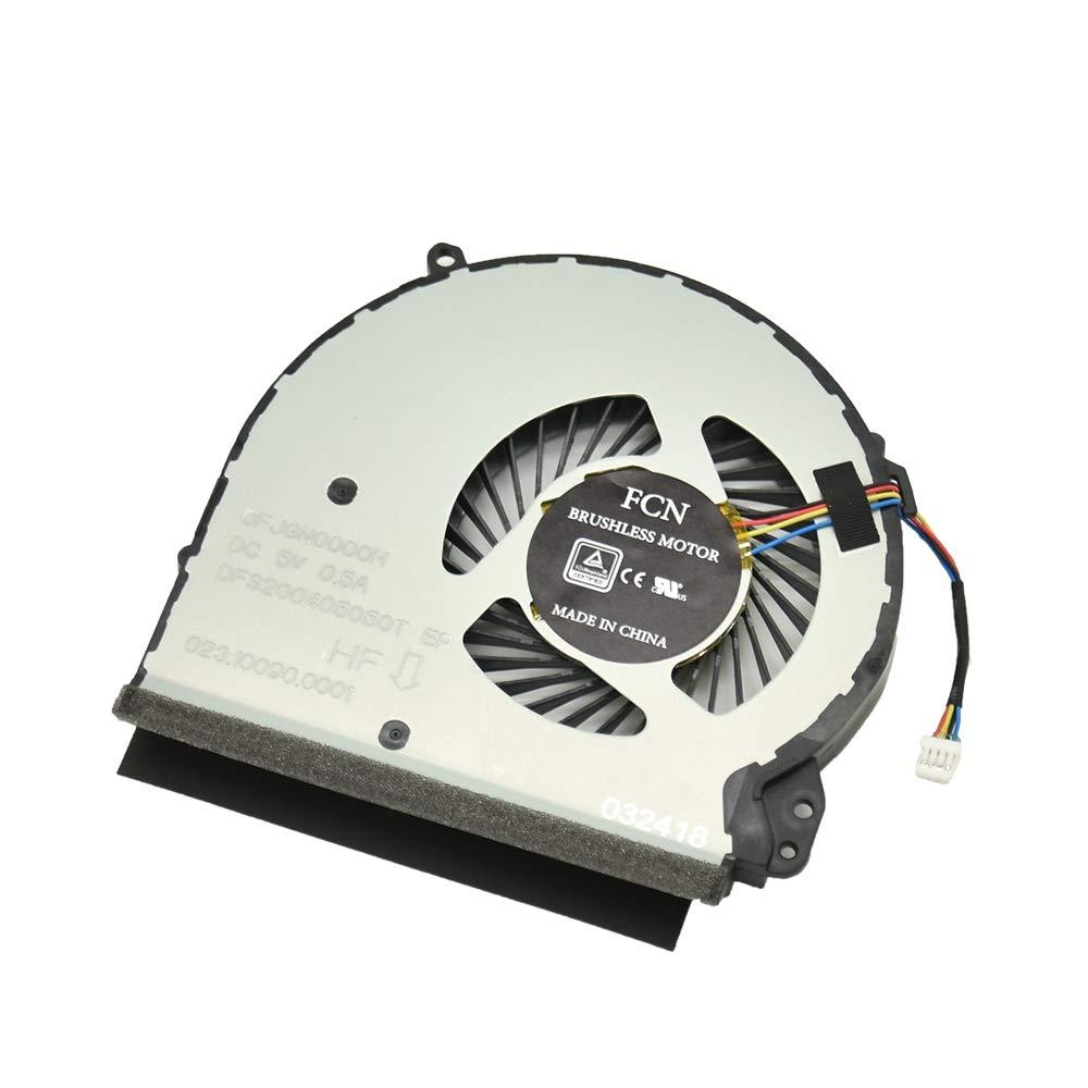 Cooler 4 Pins 4 Wires 0.5A para HP Home 17-X000 17-X 17-BS Series para Part Number: 856682-001 856681-001 926724-001
