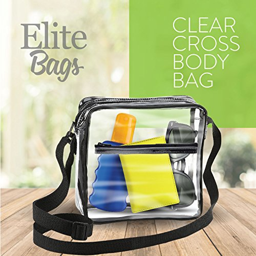 Elitebags Clear Cross Body Messenger Tote Shoulder Bag W