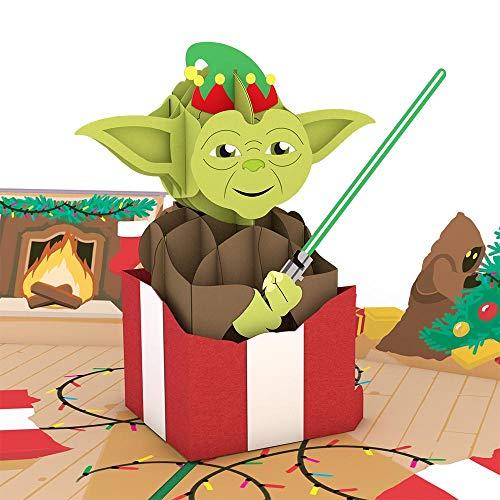 Star Wars Yoda Present Pop Up Card, 3D Card, Holiday Card, Greeting -
