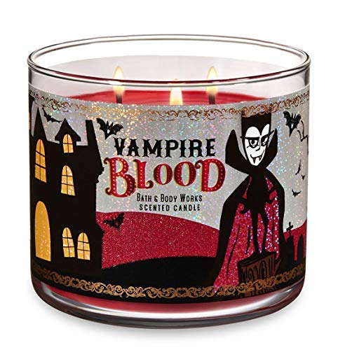 Bath and Body Works Vampire Blood Halloween Candle - Large 14.5 Ounce 3-wick with Happy Halloween Lid]()