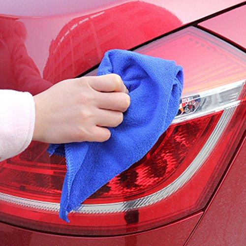 /4pcs 30/* 30/cm Azul AIUIN gamuzas de Microfibra Ideal Limpiar pulir Votre Coche/ /Secado r/ápido/ /Multiusos/