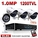 ELEC 4CH 960H HDMI DVR 1200TVL Security Cameras, 4 Channel Home Security Camera System CCTV Surveillance Video Recorder ,500GB Hard Drive Pre-installed Review