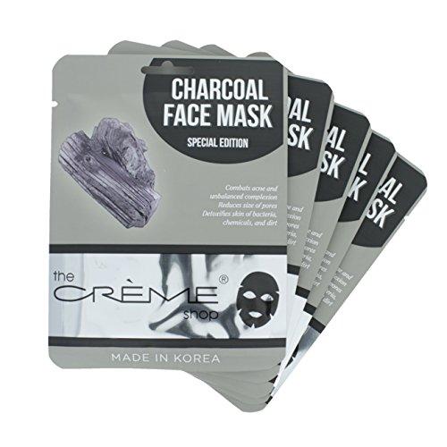 The Crème Shop Charcoal Face Mask - 5 Piece Set