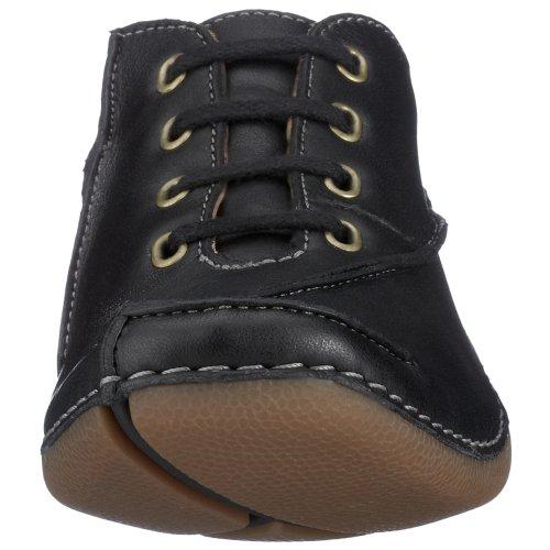 Clarks - Zapatillas de cuero para mujer Negro (Black Leather)
