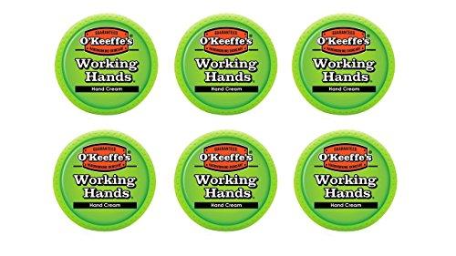 okeeffes-k0350002-6-working-hands-hand-cream-in-jar-6-pack-34-oz