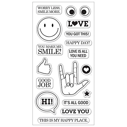 Fiskars Crafts 177200-1001 All All Smiles 4x8 Clear Stamp, None