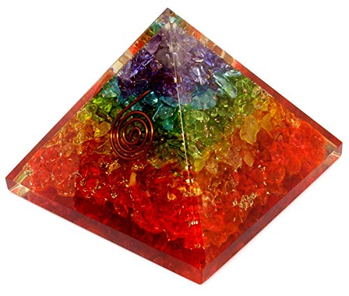 Energy Generator Orgone Pyramid for Emf Protection & Healing- meditation orgonite pyramids/crystal ()