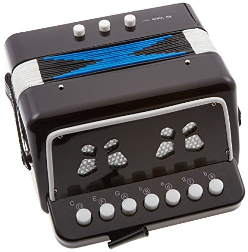 SKY Accordion Black Color 7 Button 2 Bass Kid Music Instrument Easy to PlayGREAT GIFT ()