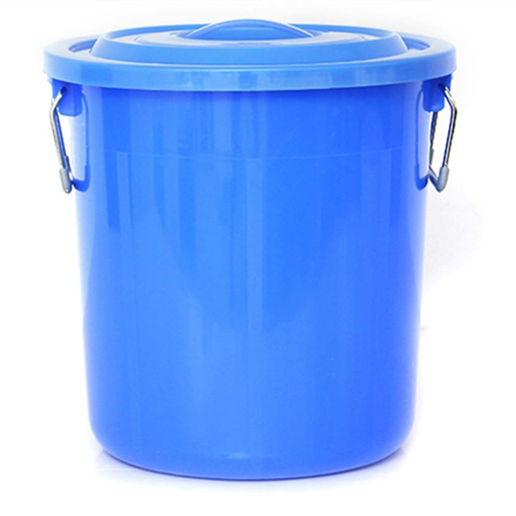 Trash can Trash can Bucket with lid Plastic Large Storage Bucket Household Outdoor Trash can Thickening Waste bin 60L (Size : 100L)