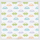 Cotton Microfiber Hand Towel,Kids,Cute Cars Pastel Colored Automobiles Boys City Joyful Game Toys Childhood Inspired Decorative,Multicolor,for Kids, Teens, and Adults,One Side Printing