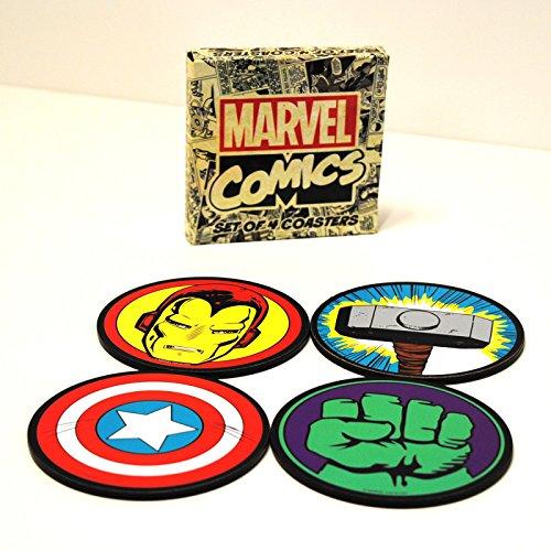 /ic/ônes Dessous de Verre Rond Marvel Comics/
