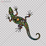 Decals Sticker Colorful Lizard