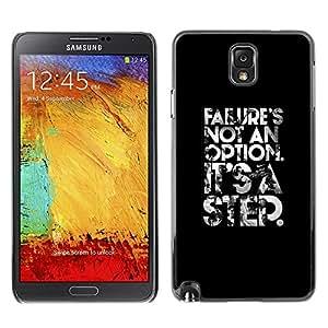 Caucho caso de Shell duro de la cubierta de accesorios de protección BY RAYDREAMMM - Samsung Galaxy Note 3 N9000 N9002 N9005 - Not An Option Poster Text