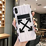 iPhone Xs Max Case Street Fashion Design, Flexible Durable Full-Protective Back Case Cover for iPhone Xs Max 6.5inch (Black-Check)