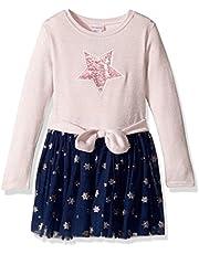 فستان بناتي من Youngland للفتيات الصغار بتصميم سترة لامعة مع زخرفة