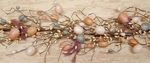 Egg Garland with Twigs and Pips Country Rustic