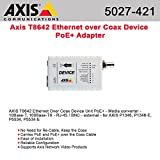 Axis Communications 5027-421 Ethernet Over Coax Device PoE+ Adapter for Security Systems