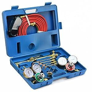 Thegood88 Victor Type Gas Welding & Cutting Kit Oxygen Torch Acetylene Welder Tool Case TG0278
