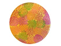 Mainstays Summer and Spring Themed Plate Set, Bundle Set of 4 (Pineapple)