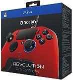 Nacon Revolution Pro Controller - Mando alámbrico, color rojo (PS4)