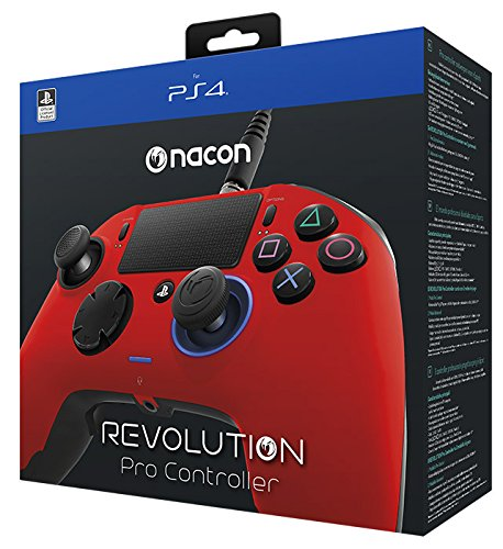 (NACON Revolution PRO Controller Gamepad Red Edition PS4 Playstation 4 eSports Designed)