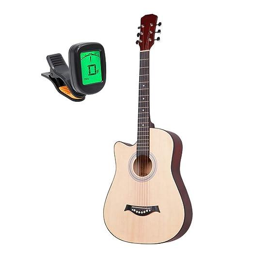 BAIYING-Guitarra Acústica Guitarra Clasica Práctica Estudiantil 38 ...