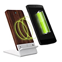 Wood Wireless Charger Stand for LG G3, LG G3 Dual, LG G4 with Quick Circle Case - [NEW] COOPER ECOSTAND Quick Charge Qi Wireless Charging Stand Dock Station Pad Mat Wooden Holder Plate Battery Case