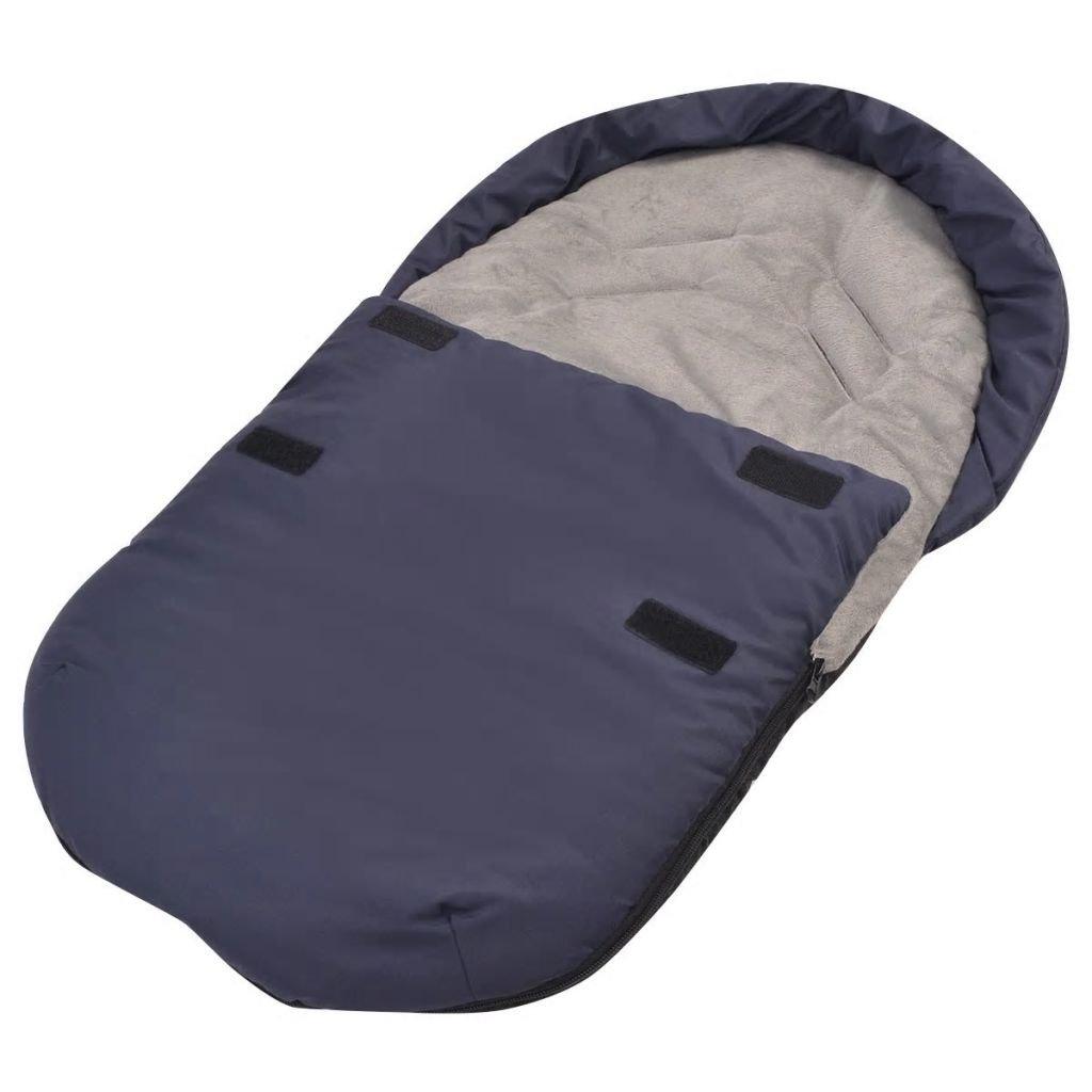 vidaXL Fuß-/Schlafsack für Babyschale/Autositz Warme Zehen 75 x 40 cm Marineblau