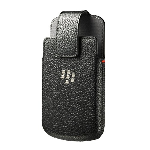 BlackBerry ACC50879101 Leather Holster Q10 Black (Blackberry Rim Q10)