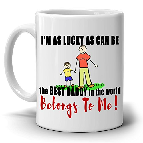 Best Daddy and Daughter Birthday Gifts Coffee Mug, Printed on Both - Gift Co Voucher Amazon Uk