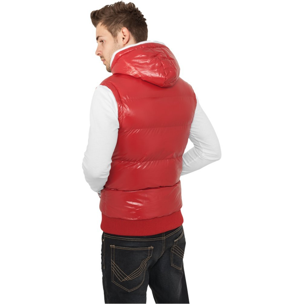 Urban Classics Hooded Bubble Vest Vest black White