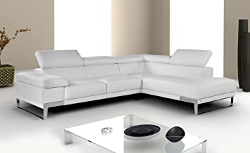 Charming Ju0026M U0026quot;Nicolettiu0026quot; White Top Grain Italian Leather Sectional Sofa