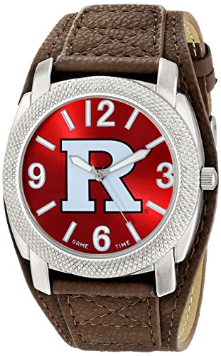 Game Time Men's 'Rutgers State University Defender' Quartz Metal and Polyurethane Casual Watch, Color:Brown (Model: COL-DEF-RUT)