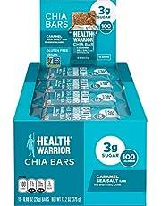 Health Warrior Chia Bars, Caramel Sea Salt, Gluten Free, Vegan, 25g Bars, 15 Count