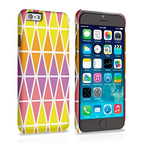 Caseflex iPhone 6 Plus / 6S Plus Hülle Rosa / Lila / Gelb Geometrisch Dreiecke Muster Hart Schutzhülle (Kompatibel Mit iPhone 6 Plus / 6S Plus - 5.5 Zoll)