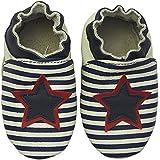 Rose & Chocolat Chaussures Bébé Star Stripe Bleu
