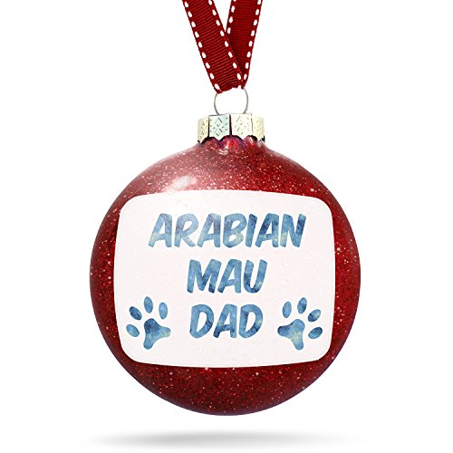 Christmas Decoration Dog & Cat Dad Arabian Mau Ornament by NEONBLOND